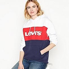 Levi's - Navy Colour Block Logo Hoodie