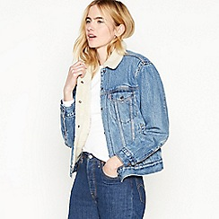 Levi's - Blue 'Ex Boyfriend' Sherpa Denim Jacket