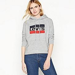 Levi's - Grey Logo Cotton Hoodie