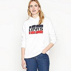 Levi's - White Logo Cotton Hoodie