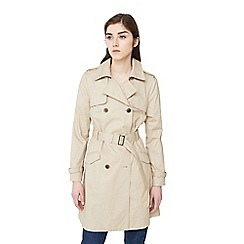 Mango - Beige 'Central' belted trench coat