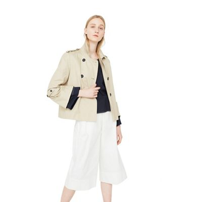 Mango   Brown 'taba' Cotton Short Trench Coat by Mango