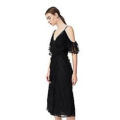 Mango - Black 'Gilda' drop shoulder dress