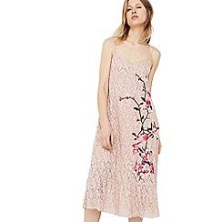 Mango - Pink 'Sleep' embroidered lace dress