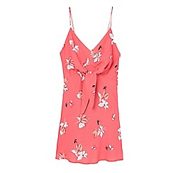 Mango - Red 'Pola' floral print dress
