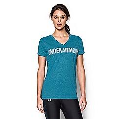 Under Armour - Blue 'Threadborne ' graphic v-neck t-shirt