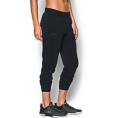 Under Armour - Black fleece 'Threadborne ' cropped pants