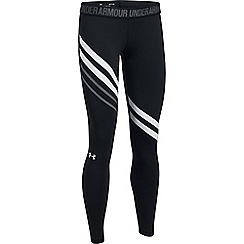 Under Armour - Black cotton blend engineered leggings