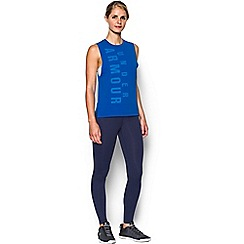 Under Armour - Blue Charged Cotton® 'Exploded Wordmark Muscle' tank top