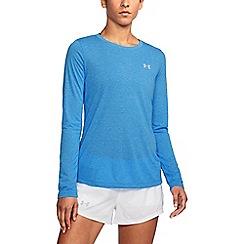 Under Armour - Blue 'Threadborne ' twist long sleeves t-shirt