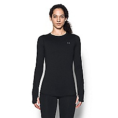 Under Armour - Black 'ColdGear«' fitted t-shirt
