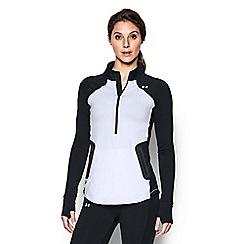 Under Armour - White 'ColdGear« Reactor' 1/2 zip t-shirt