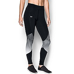 Under Armour - Black 'ColdGear« Reactor' graphic leggings