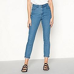 Noisy may - Mid blue 'Cara' mom jeans