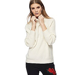 Noisy may - Cream roll neck jumper