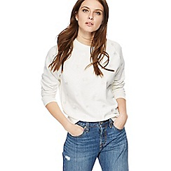Levi's - White embroidered palm tree sweatshirt