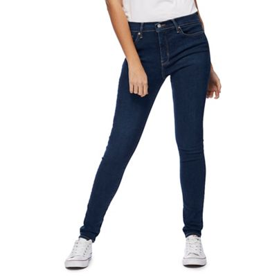 Levi's Dark blue '310' mid-wash super skinny shaping jeans ...