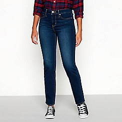 Levi's - Navy mid-rise 314 shaping straight jeans