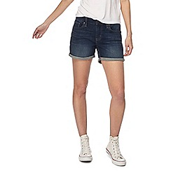 Levi's - Dark blue vintage wash denim shorts
