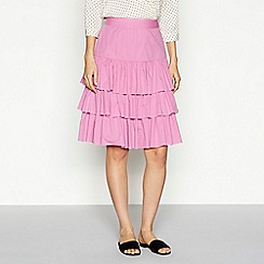 Vero Moda - Mauve cotton ruffle skirt