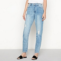 Vero Moda - Light blue distressed light wash 'Ivy' regular fit boyfriend jeans