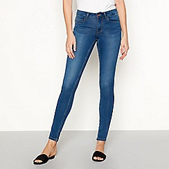 Noisy may - Mid blue 'Lucy Noos' skinny jeans
