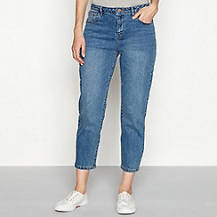 Noisy may - Blue mid wash cotton blend 'Liv' regular fit straight leg jeans