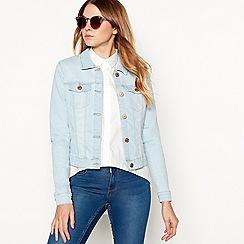 Noisy may - Pale blue 'Debra' denim jacket