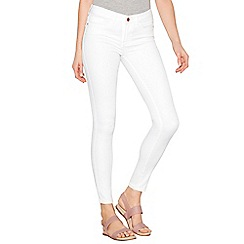 Noisy may - White 'Lucy Noos' skinny jeans