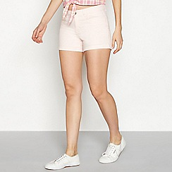 Noisy May - Pink cotton blend 'Lucy' regular fit denim shorts