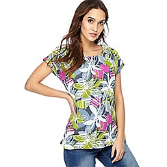 Weird Fish - Multi-coloured floral print jersey t-shirt