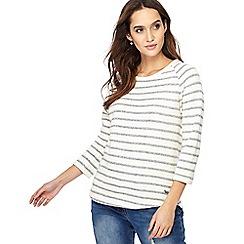 Weird Fish - Dark blue stripe print 3/4 length sleeve sweatshirt