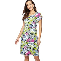 Weird Fish - Multi-coloured floral print jersey knee length shift dress