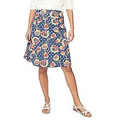 Weird Fish - Multi-coloured floral print jersey skirt