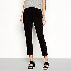 Simple Stories - Black pleat from slim leg smart trousers