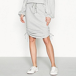 Simple Stories - Grey 'Marais' jersey tie side skirt