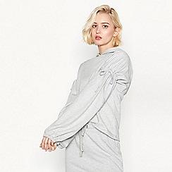 Simple Stories - Grey 'Marais' tie sleeve hooded sweatshirt