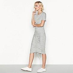 Simple Stories - Grey 'Merci' short sleeve jersey midi dress