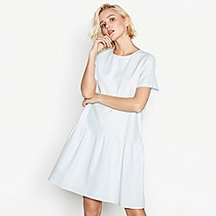 Simple Stories - Blue cotton 'Republique' short sleeve smock dress