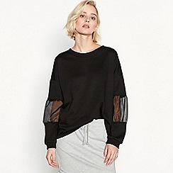 Simple Stories - Black 'Collette' contrast sleeve sweatshirt