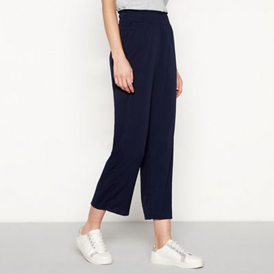 Simple Stories   Navy High Waisted 'ivy' Loose Fit Culottes by Simple Stories