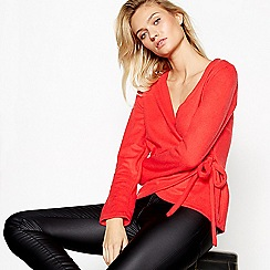 Vila - Red 'Palona' wrap top