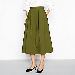 Vila - Khaki 'Raja' midi skirt