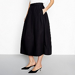 Vila - Black 'Raja' midi skirt
