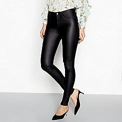 Vila - Black coated skinny jeans