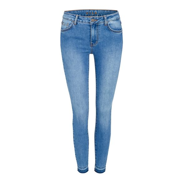 mid Vila blend fit slim skinny cotton Blue wash jeans SwpP4w