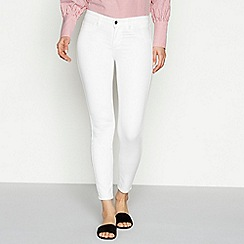 Vila - White cotton blend slim fit skinny jeans