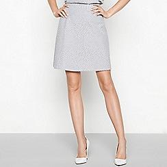 Vila - Blue stripe cotton 'Videlina' mini skirt