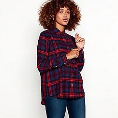Levi's - Dark blue check print 'Ulitmate Boyfriend' shirt