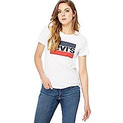 Levi's - White 'Levi's' logo t-shirt